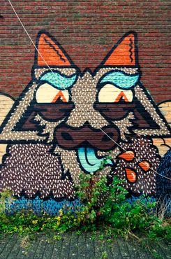 Граффити с изображением козы