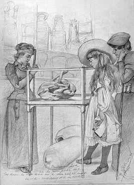 Кристиан Вильгельм Аллерс. Рисунок гостей Помпей, 1892 год