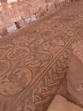 Напольная мозаика в христианской церкви Византийской эпохи в городе Петра