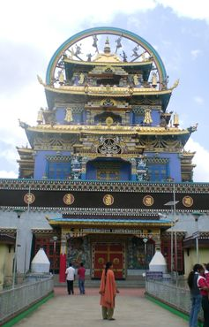 Перед храмом Намдролинг (Золотой Храм)