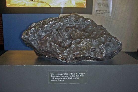 Самый большой обломок метеорита, который создал кратер