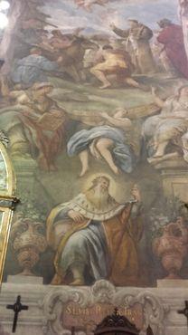 Фреска с изображением французского короля Людовика Святого