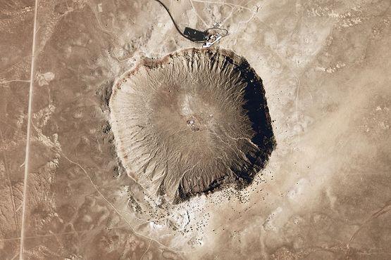 Фото кратера от НАСА