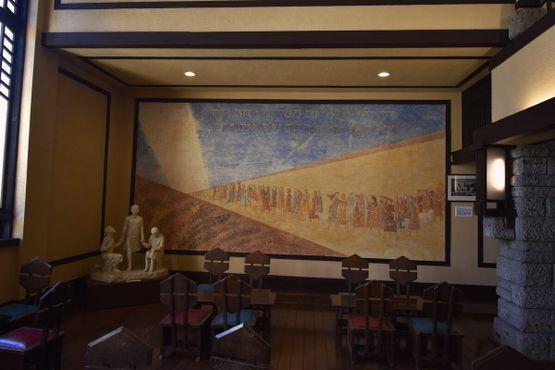 Созданная ученицами фреска, вдохновлённая Исходом
