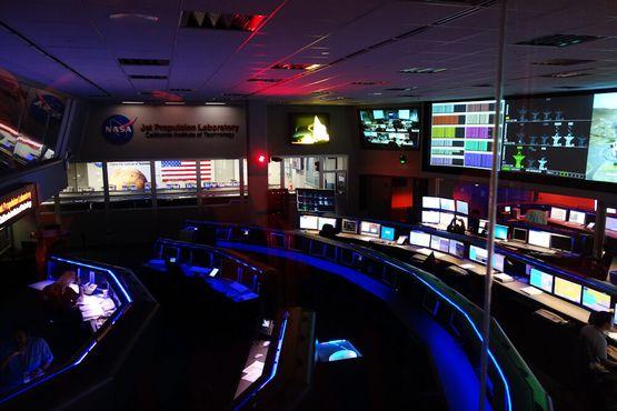 Центр управления полетами в Лаборатории реактивного движения
