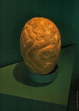 Скульптура головы из Лепенского Вира
