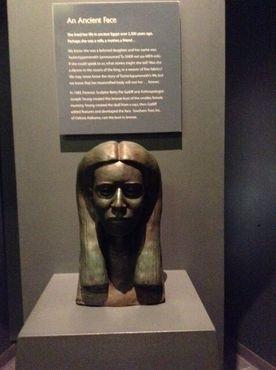 Воссозданная голова мумии