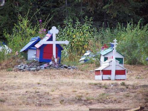Погребальные дома духа в Эклутне, Аляска