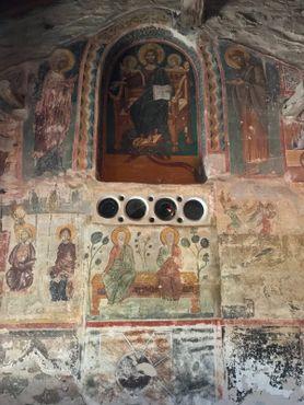 Фрески, украшающие кафоликон Великого Метеора