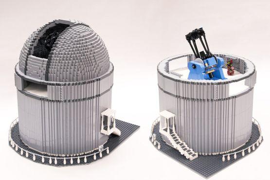 Модель Северного оптического телескопа из деталей «ЛЕГО»