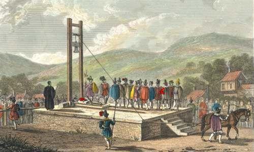 Изображение «Галифакской виселицы», опубликованное в 1829 году