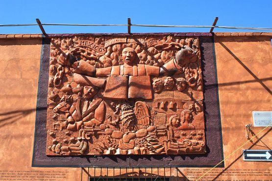 Этот глиняное рельефное изображение было здесь до появления черепов