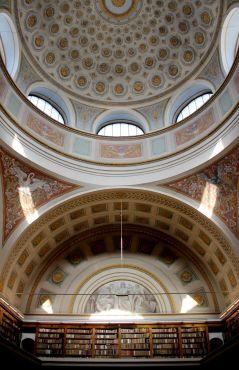Потолок читального зала северного крыла