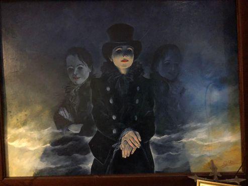 Одна из многочисленных картин в баре-музее Вилли Рецина
