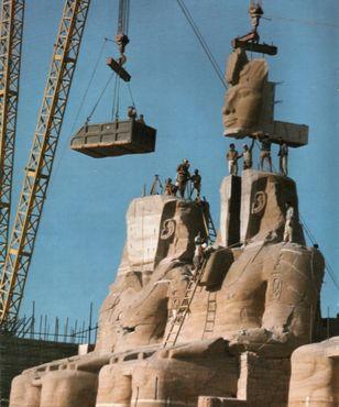 Перемещение великого храма в 1960-х годах