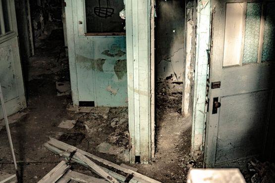 Вид в подвал снаружи