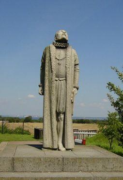 Статуя астронома Тихо Браге на острове