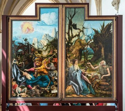 Демоны истязают святого Антония (левая панель)