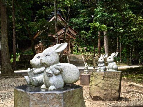 По японским преданиям, божество Идзумо-тайся Окунинуси известен своей добротой к кролику