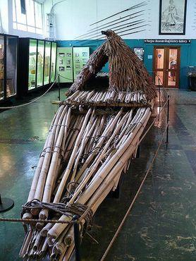 Каноэ из бамбука