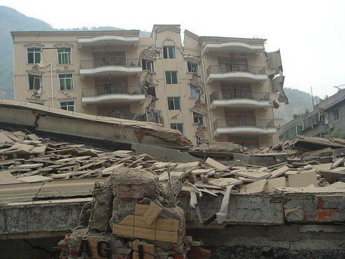 Отделение сельского хозяйства банка Китая в Бэйчуане после землетрясения