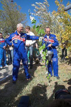 Экспедиция №18 сажает дерево, 2008 год