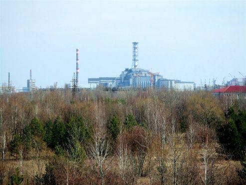 Чернобыльская АЭС на расстоянии