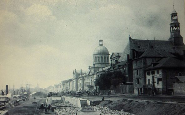 Рынок Бонсекур в 1870 году