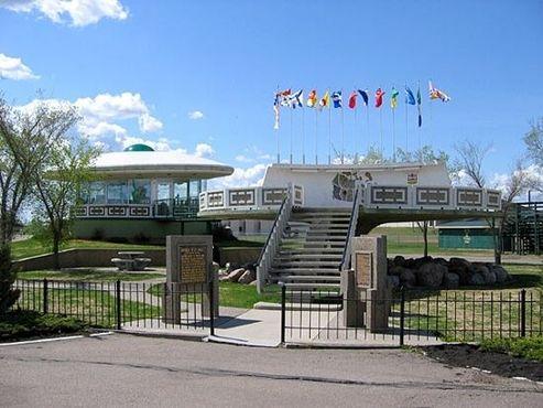 НЛО, посадочная площадка и центр