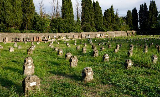 Во многих могилах захоронены маленькие дети