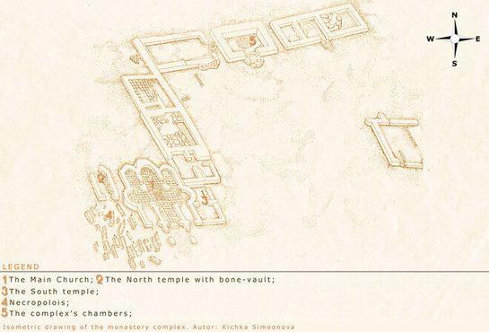 Изометрический рисунок Монастырского комплекса