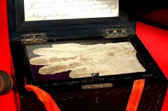 Окровавленные перчатки с попытки убийства (нападение с ножом) императора Франца Иосифа