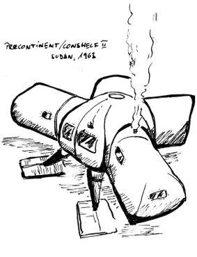 Схема подводного жилища для проекта «Преконтинент-2»