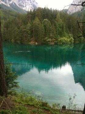 Воды Грин-Лейка достигли леса, который обычно находится в пяти метрах от берега