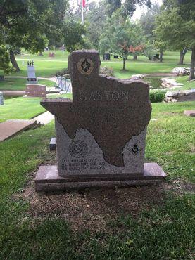 Надгробие в форме штата Техас