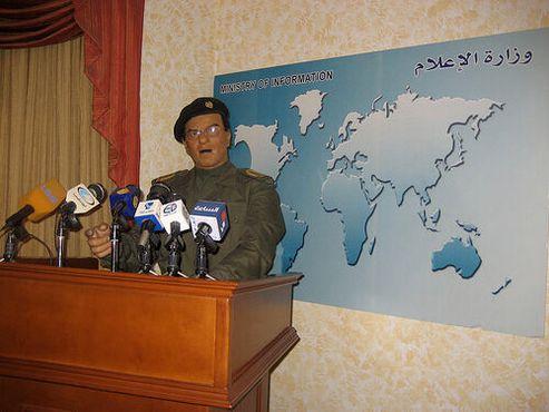 Аниматроник бывшего министра информации Ирака Мохаммеда Саида аль-Саххафа