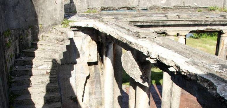 Остатки бетонных лестниц