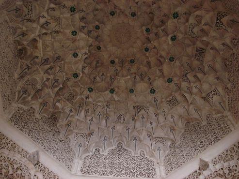 Вид на купол в медресе Бен Юсуфа