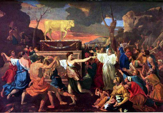 """Картина Николы Пуссена """"Поклонение золотому тельцу"""": образы, созданные под влиянием Греко-римской вакханалии"""