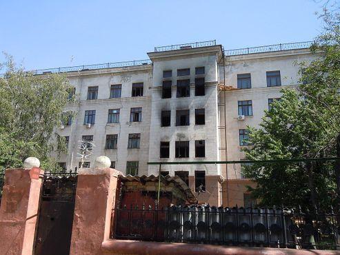 Дом профсоюзов в Одессе после пожара