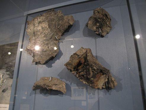 Осколки бомбы в расположенном рядом Музее искусств, науки и истории во Флоренсе