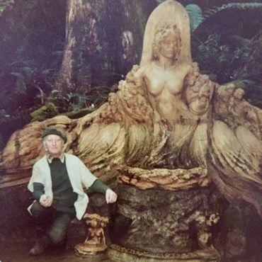 Скульптор в 1977 году
