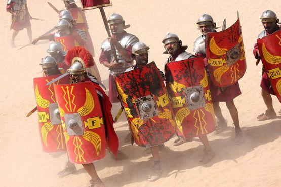 Представление«Римская армия и гонки на колесницах»