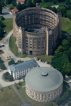 Газгольдер-музей с высоты птичьего полёта
