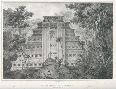 Изображение Эль-Тахина, как видел город викторианский исследователь Карл Небет